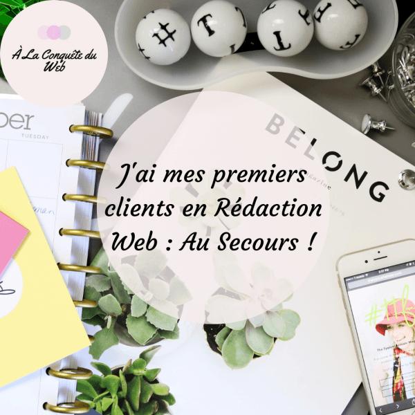 J'ai mes Premiers Clients en Rédaction Web : Au secours !