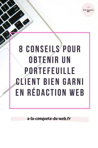 Conseils portefeuil client rédacteur web