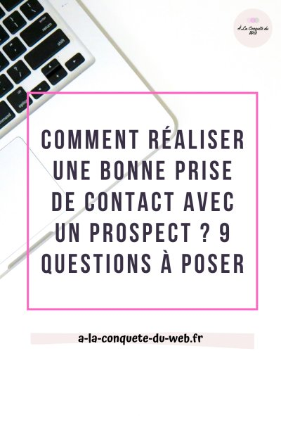 prise de contact prospect rédaction web