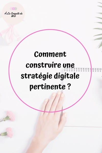stratégie digitale pertinente