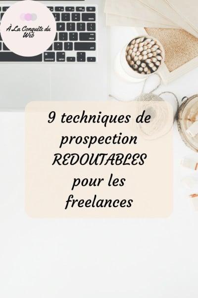 techniques prospection freelances